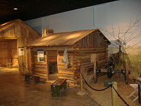 Replica of a refugee shanty used at Camp Nelson