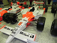 Hornish's 2006 Indianapolis 500 winning car at the Indianapolis Motor Speedway Hall of Fame Museum