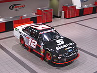 One of Hornish's 2013 cars at the Team Penske facilities