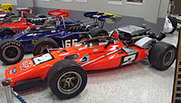 A replica of the Brawner Hawk in which Andretti won the 1969 Indy 500 resides in the Indianapolis Motor Speedway Hall of Fame Museum.