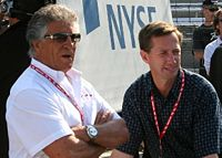 Mario (left) with nephew John (right) at the 2007 Indianapolis 500
