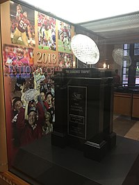 Florida State's 2013 national championship trophy