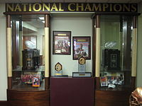 Florida State's 1993 and 1999 national championship trophies