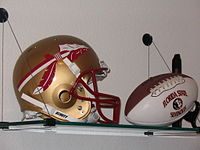 The spear design has been used on FSU's helmets since 1976.