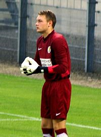 Zoet making his debut for RKC Waalwijk against Heracles Almelo, in an eventual 2–2 draw on 6 August 2011.