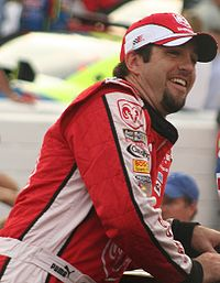 Elliott Sadler (pictured in 2007) won the pole position, after having the fastest time of 27.636 seconds.
