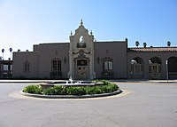 The Glendale Transportation Center, executed in a California Churrigueresque style.