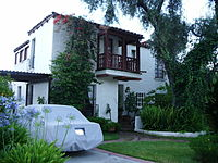 The historic Spanish Colonial Revival Peterson House.