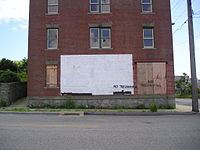 One of the few remaining houses in the Fort Trumbull neighborhood, June 10, 2007