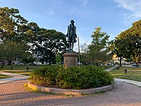 A statue of Nathan Hale in Williams Park