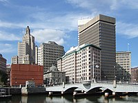alt=The skyline of Providence Downtown Providence, the capital and most populous city in Rhode Island