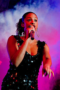 """Alesha Dixon scored her first UK top five single as a solo artist with """"The Boy Does Nothing"""" (2008)."""