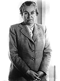 Chilean poet Gabriela Mistral, first Latin American to win a Nobel Prize in Literature, in 1945