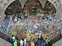 Diego Rivera's mural depicting Mexico's history at the National Palace in Mexico City