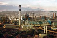 Steel-maker CSN, in Volta Redonda. Brazil is one of the 10 largest steel producers in the world; Mexico is one of the 15 largest and Argentina one of the 30 largest