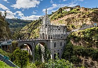 The Las Lajas Sanctuary in the southern Colombia, Department of Nariño.