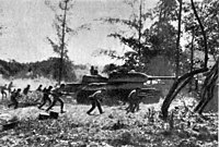 Cuban T-34 tanks in the Bay of Pigs invasion