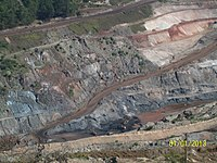 Iron mine in Minas Gerais. Brazil is the world's second largest iron ore exporter.