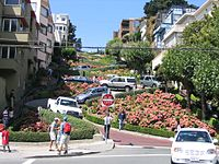 Additional filming took place in San Francisco, the setting of the film, including for an action sequence on Lombard Street (pictured).