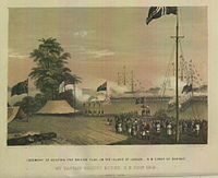 British flag hoisted for the first time on the island of Labuan on 24 December 1846