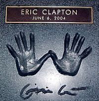 Clapton's handprints in Hollywood, California