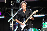 Clapton playing an Eric Clapton Stratocaster at the Hard Rock Calling concert in Hyde Park, London in 2008