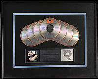 A seven-times Platinum RIAA certification for the album Timepieces: The Best of Eric Clapton (1982)
