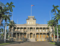 The Iolani Palace in Honolulu, formerly the residence of the Hawaiian monarch, was restored and opened to the public as a museum in 1978.
