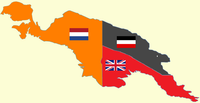 New Guinea from 1884 to 1919. The Netherlands controlled the western half of New Guinea, Germany the north-eastern part, and Britain the south-eastern part.