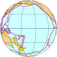 The Pacific Plate comprises most of Oceania, excluding Australasia and the western portion of Melanesia.