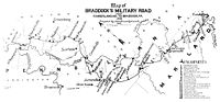 Map of Braddock's Military Road