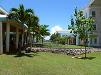 The central campus at the University of Guam