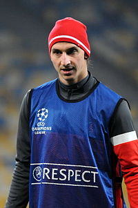 Ibrahimović (pictured at Paris Saint-Germain in 2012) courted controversy while at the club, for abuse of match officials and for on-field violence against opposition players.