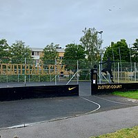 Zlatan Court entrance in Malmö with assistance of his sponsor Nike