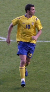 Ibrahimović in action for Sweden in June 2006