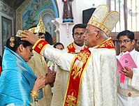 Crowning during Holy Matrimony in the Syro-Malabar Catholic Church, an Eastern Catholic Church and a part of the Saint Thomas Christian community in India
