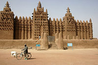 Great Mosque of Djenné, in the west African country of Mali