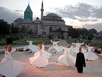 The Whirling Dervishes, or Mevlevi Order by the tomb of Sufi-mystic Rumi