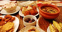A fast-breaking feast, known as Iftar, is served traditionally with dates