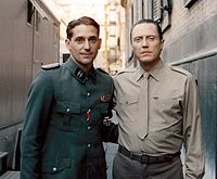 Walken (right) on the set of Celluloide, 1996