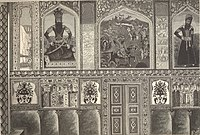 Portraits in Sardar's Palace of Irevan in Erivan Fortress painted by Mirza Gadim Irevani.