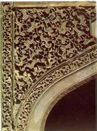 """""""Divankhana"""". A fragment of a decoration. Palace of the Shirvanshahs in Baku, the 15th century"""