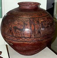 A vessel from Shahtakhty settlement. Middle of the 2nd millennium BC.