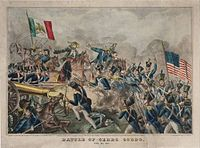Battle of Cerro Gordo, lithograph courtesy of the Yale Collection of Western Americana, Beinecke Rare Book and Manuscript Library at Yale University, New Haven, Connecticut.