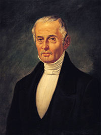 Liberal Valentín Gómez Farías, who served as Santa Anna's vice president and implemented a liberal reform in 1833, was an important political player in the era of the Mexican–American War.