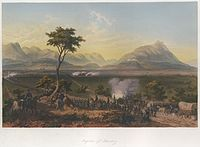 The Battle of Monterrey September 20–24, 1846, after a painting by Carl Nebel