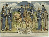 U.S. Army full dress and campaign uniforms, 1835–1851.