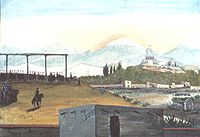 The mass hanging of Irish Catholic soldiers who joined the Mexican side, forming the Saint Patrick's Battalion