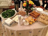 An example of Iranian Iftar table. Dinner will be served later.