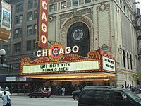 Chicago Theatre during Conan's week of shows there